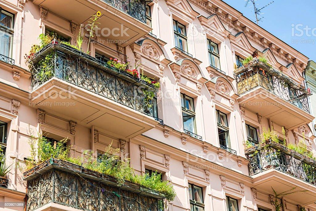 Balconies in Berlin stock photo