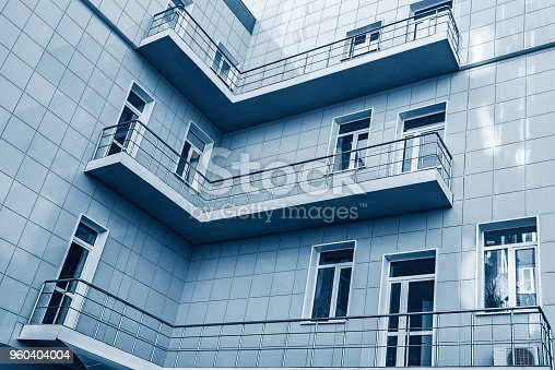 178842131 istock photo Balconies in the corner of the building. 960404004