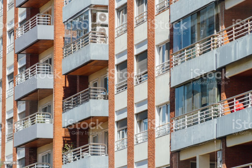 Balconies of modern apartment building photo libre de droits