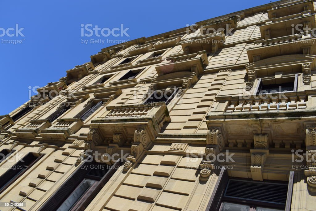 Balconies of sandstone. royalty-free stock photo