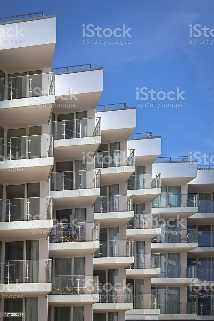 Balconies royalty-free stock photo
