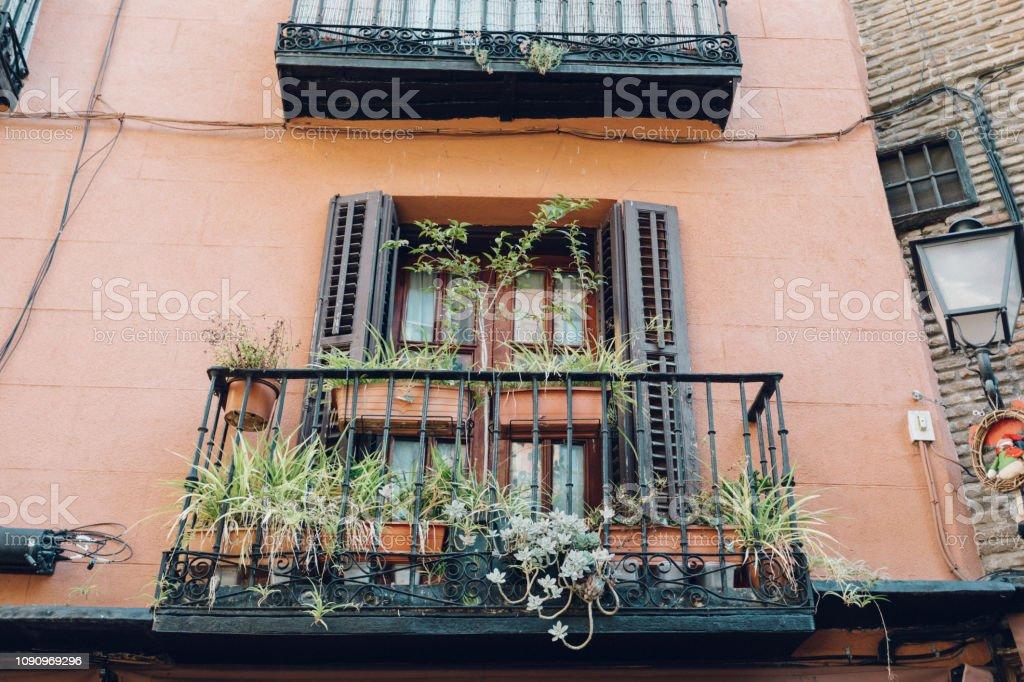 balcony apartment stock photo