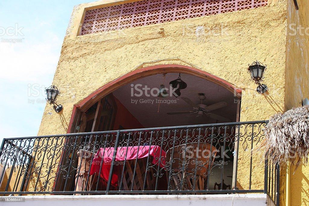 Balcony at the Hacienda royalty-free stock photo