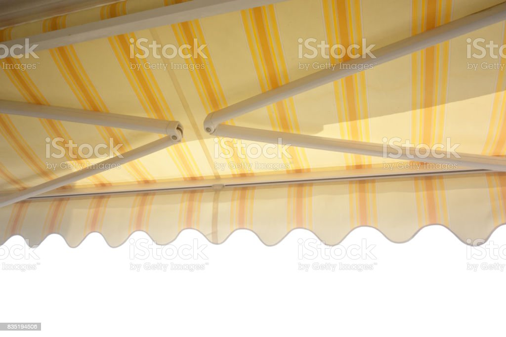 balcony awning stock photo