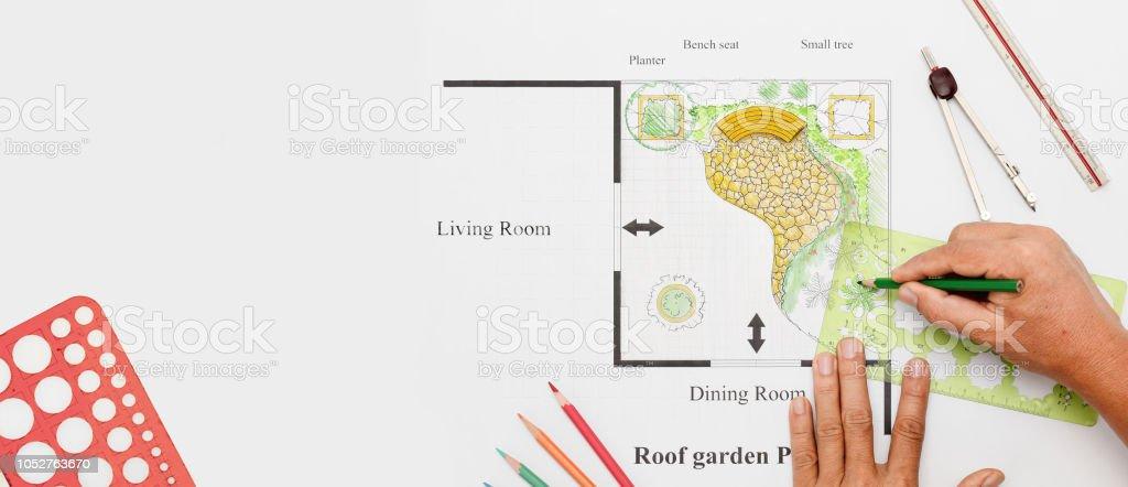Terraza Jardín Casa Diseño Foto De Stock Y Más Banco De