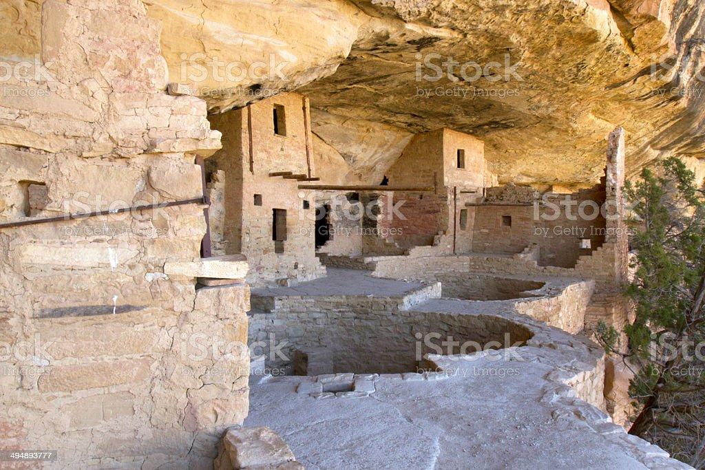Balcony House Dwelling at Mesa Verde National Park stock photo