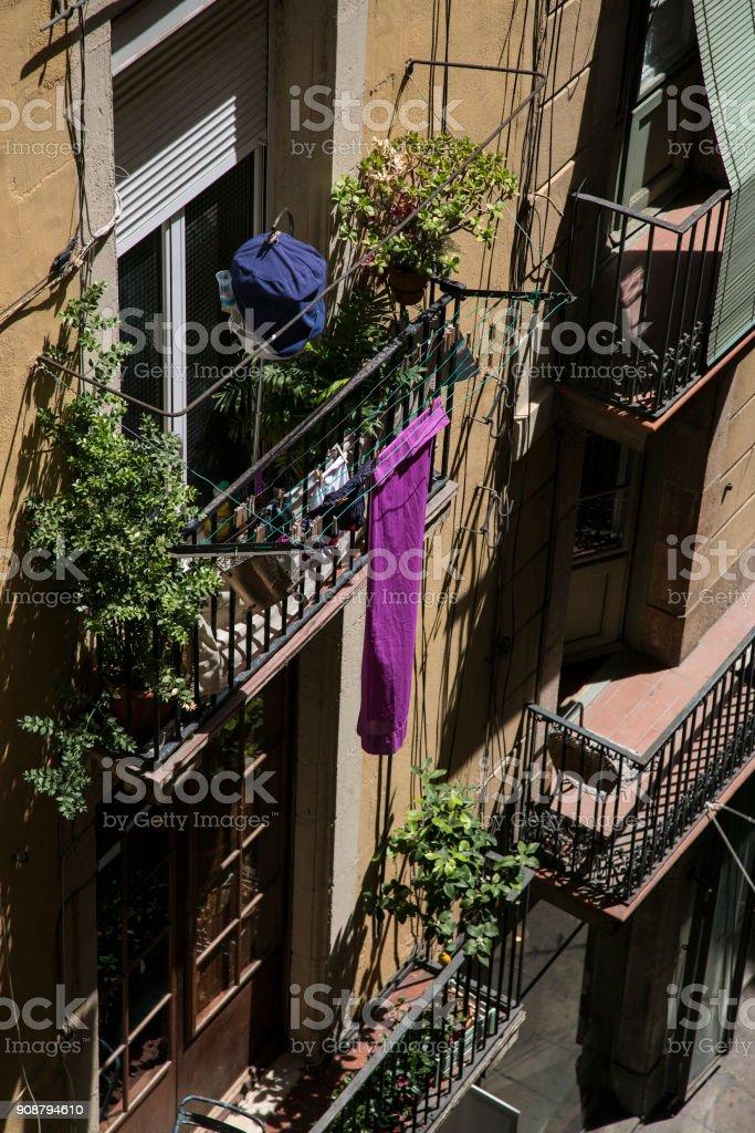 Balcon au soleil stock photo