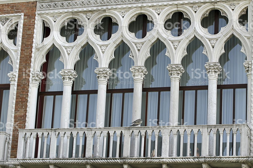 balcony in Venetian style royalty-free stock photo