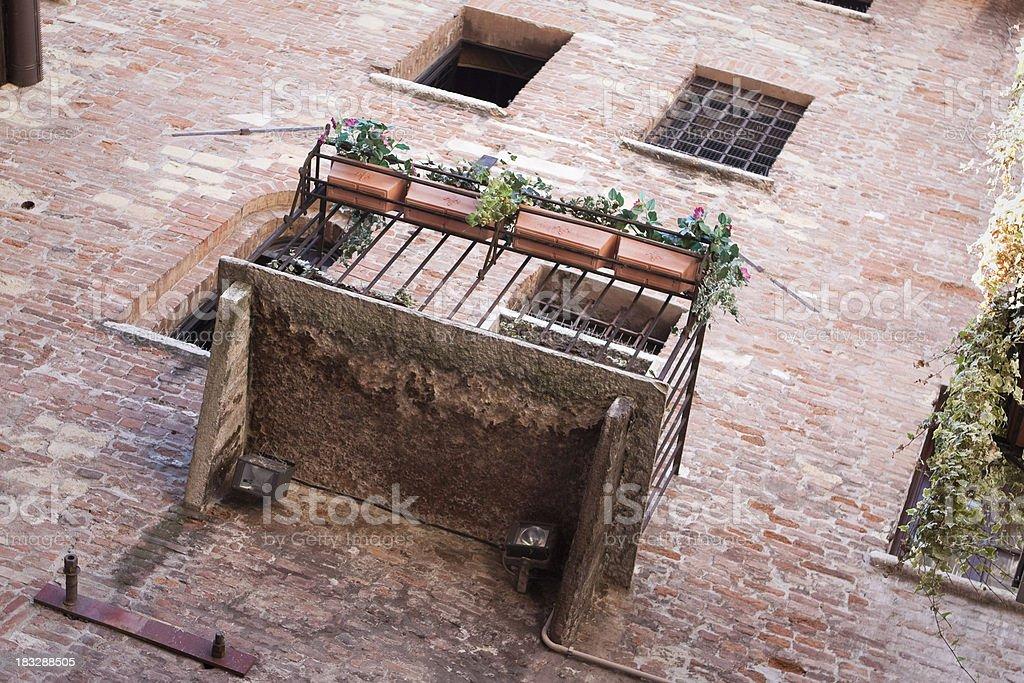 Balcony - Juliet's House stock photo