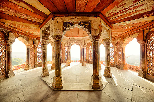 Balcony of Agra Fort, Agra, India Agra, India agra stock pictures, royalty-free photos & images