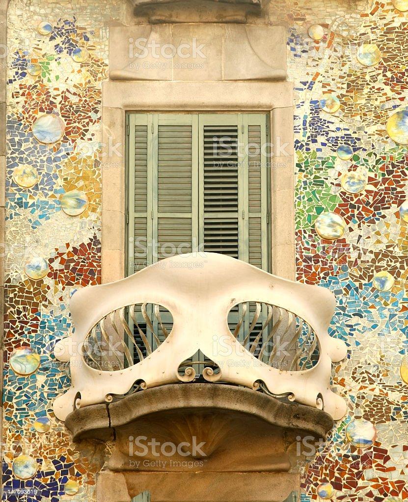 Balcony of Casa Batllo in Barcelona royalty-free stock photo