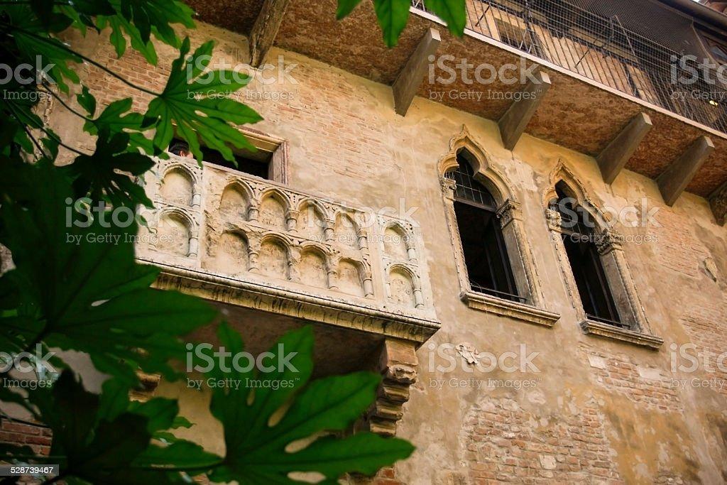 Balcony of Juliet stock photo