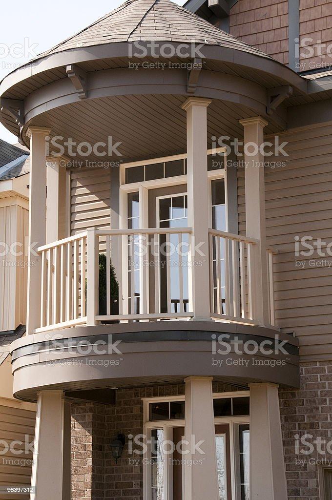 balcony of new home royalty-free stock photo