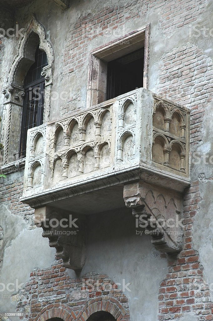 Balcony of  Romeo and Juliet royalty-free stock photo