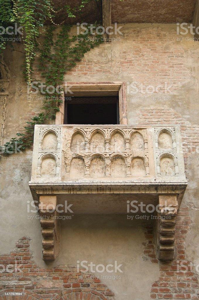 Balcony of Romeo and Juliet Verona stock photo