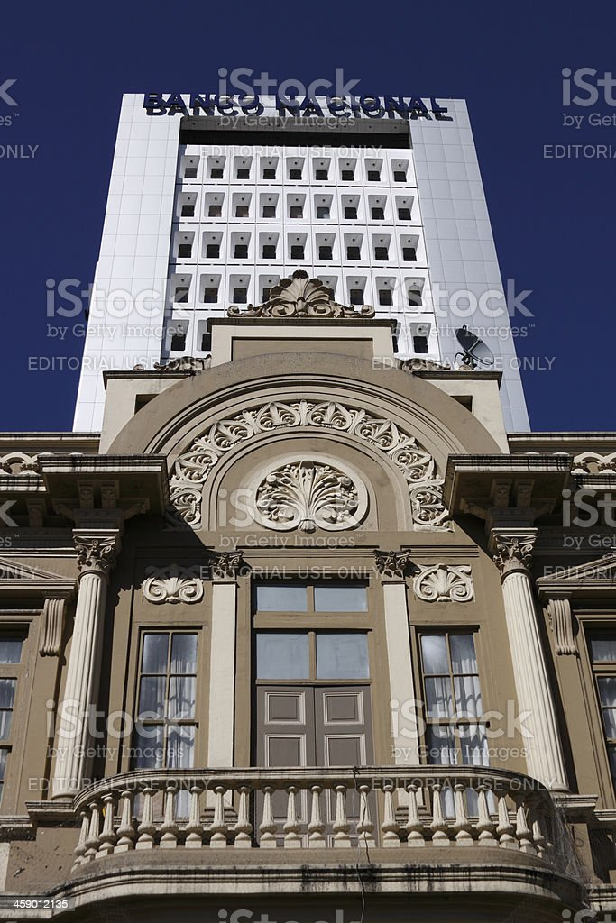 Balcony of the Post Office building royalty-free stock photo
