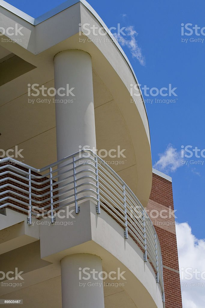 Balcony on Modern Building and Sky royalty-free stock photo