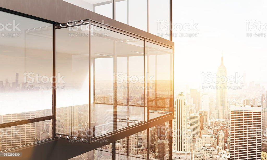 Balcony on NY background – Foto