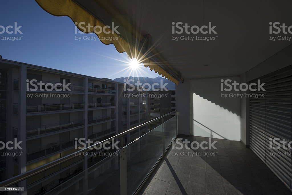 Balcony stock photo