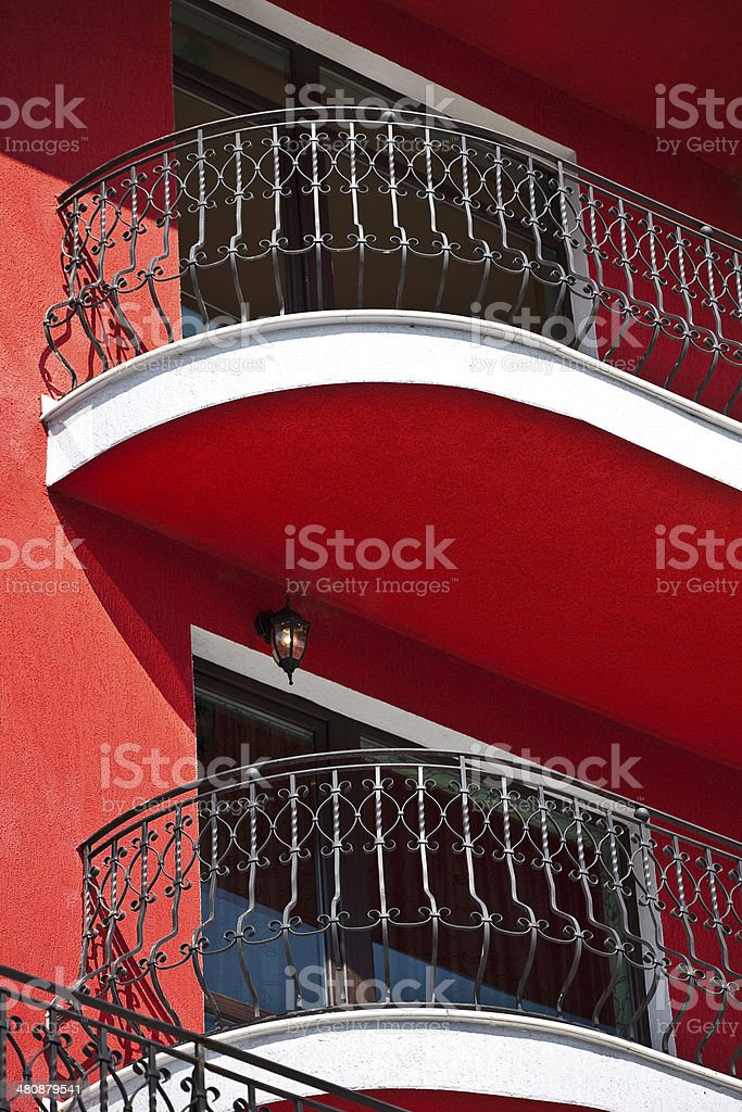 balcony railing of iron royalty-free stock photo
