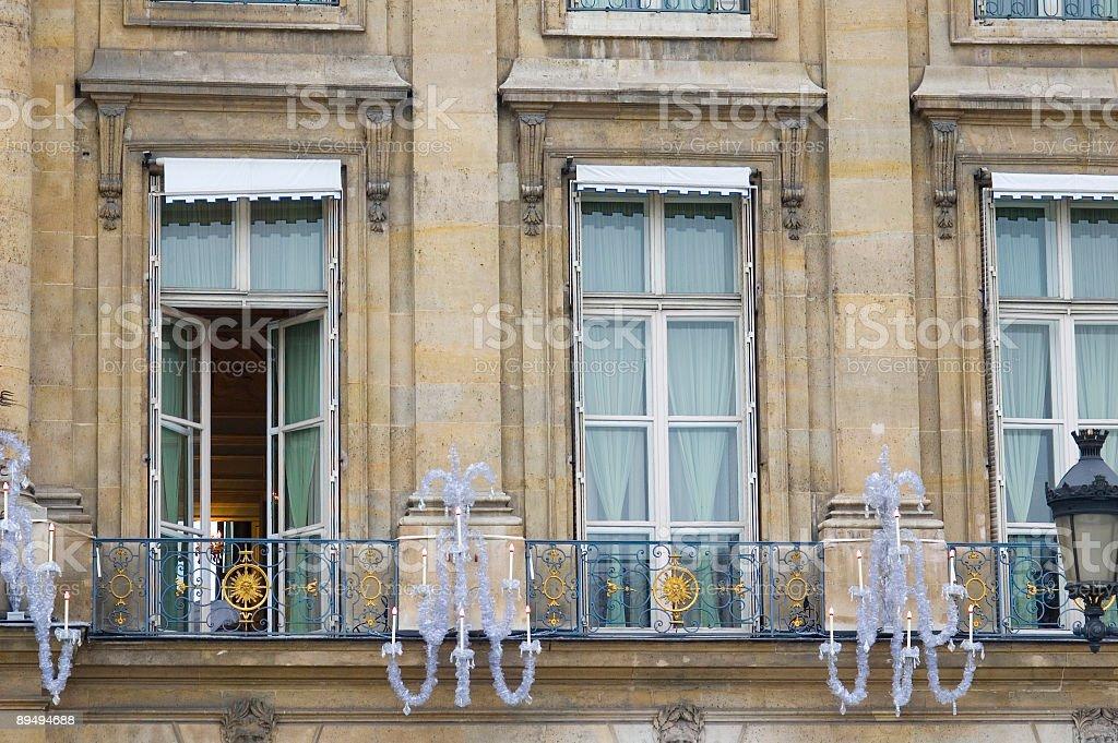 Balcony windows, Paris royalty-free stock photo