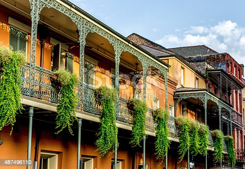 istock Balcony with Plants #12 French Quarter New Orleans 487496110