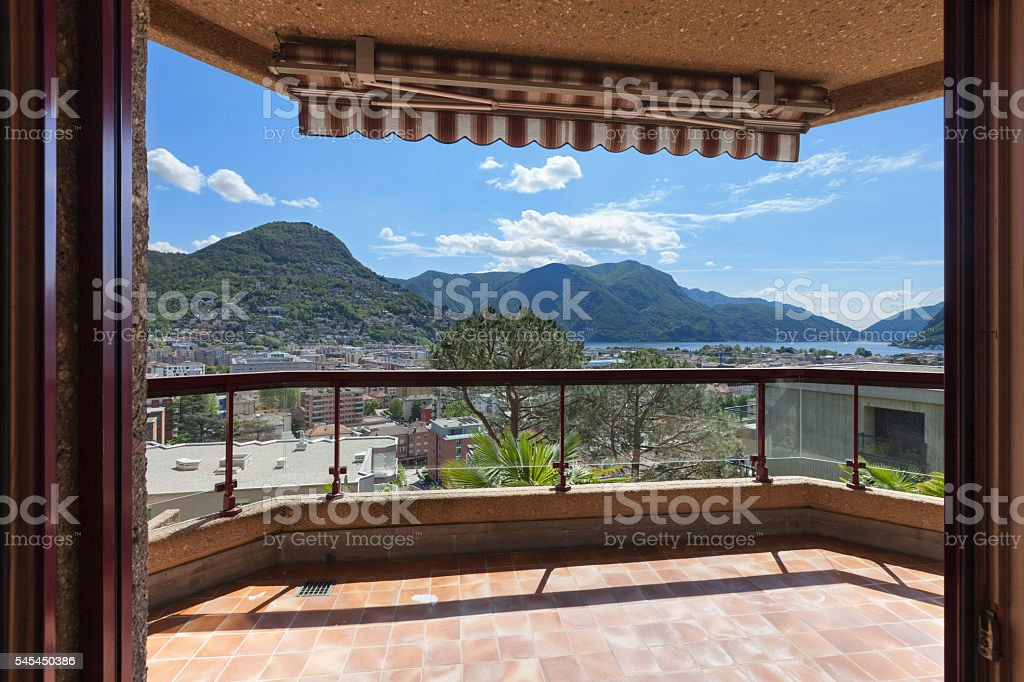 Balcony With Sun Shade Stock Photo Download Image Now Istock