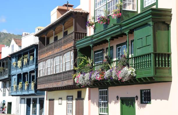 Balcoy Häuser in Santa Cruz de La Palma – Foto