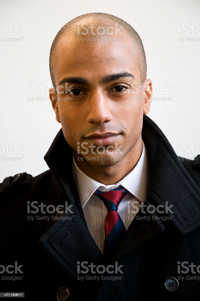 bald businessman royalty-free stock photo