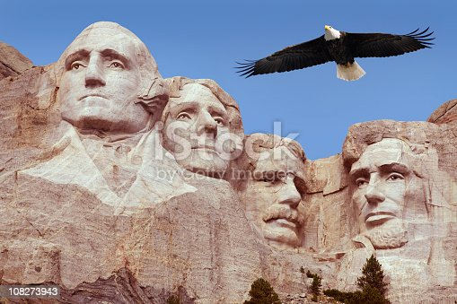 1195382882istockphoto Bald Eagle Flying Free Above American Monument Mount Rushmore Presidents 108273943