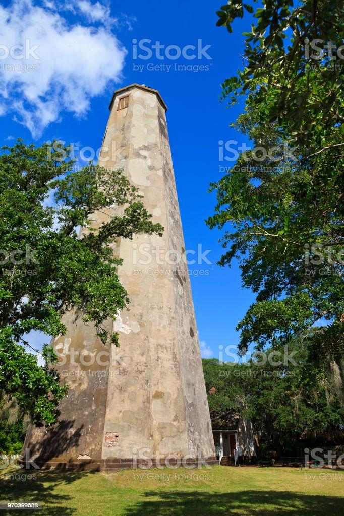 Bald Head Island Lighthouse stock photo