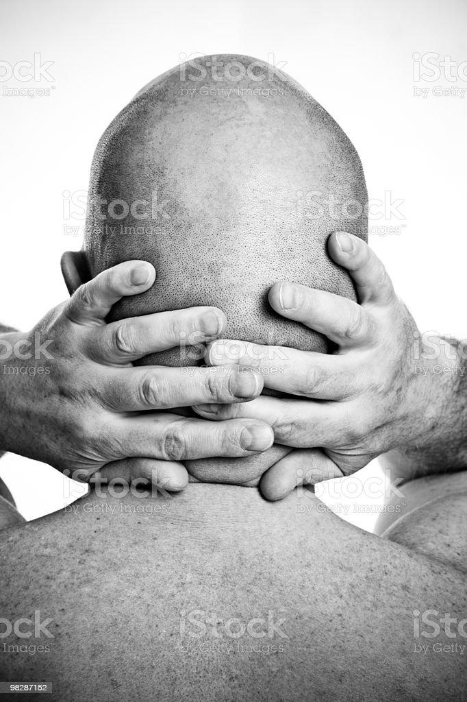 Bald man rear view royalty-free stock photo