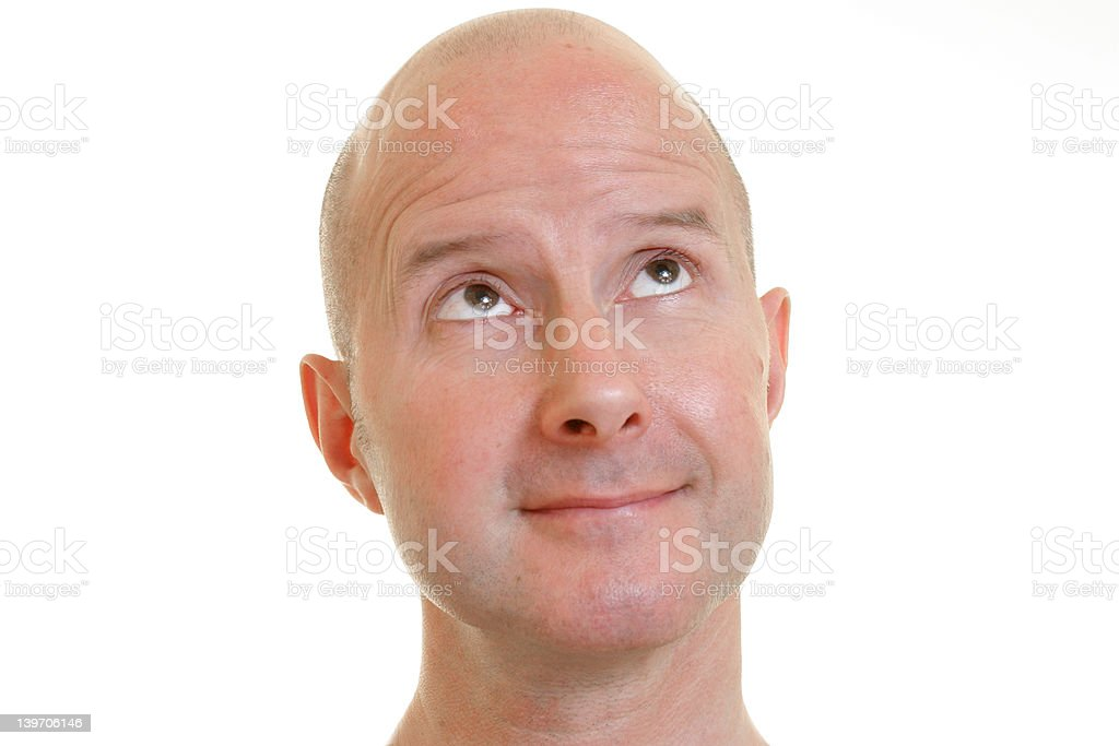 bald man with silly exspression royalty-free stock photo