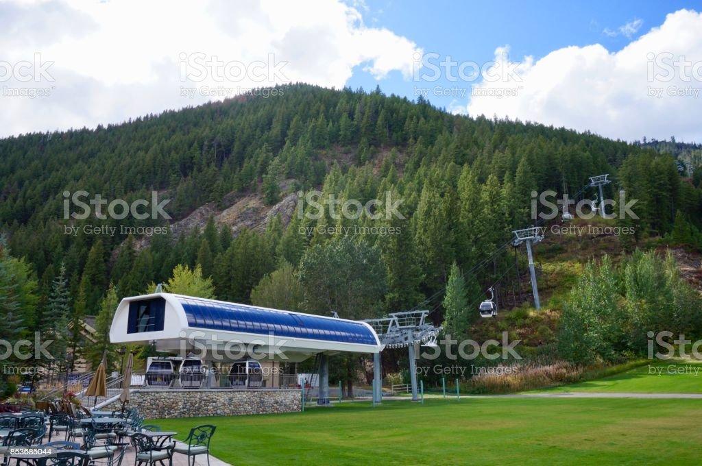 Bald Mountain in Fall stock photo