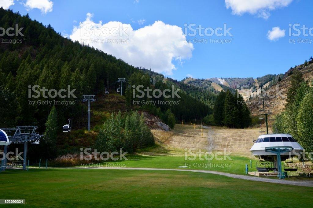 Bald Mountain in the Fall stock photo