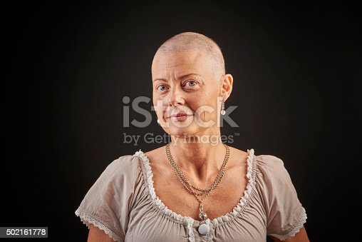 469949126 istock photo Bald woman in chemotherapy fighting cancer 502161778