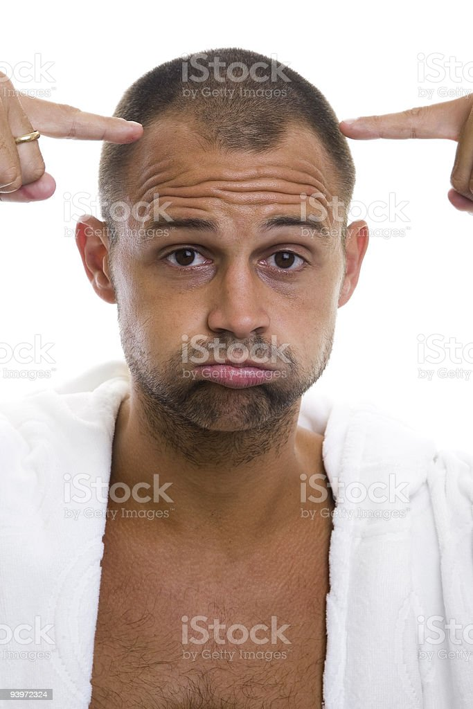 Balding Man royalty-free stock photo