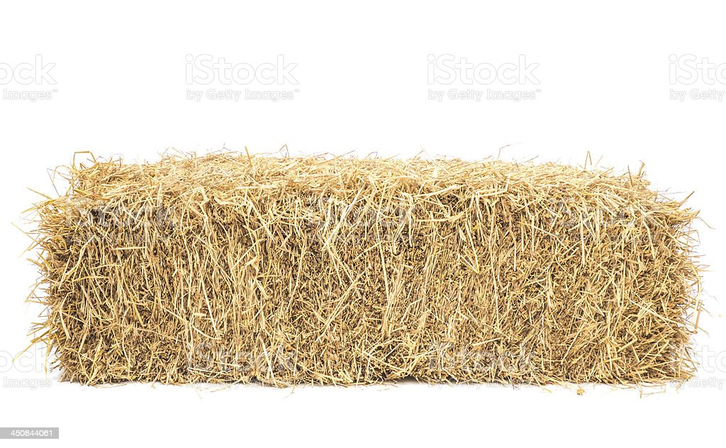 bale of hay isolated stock photo