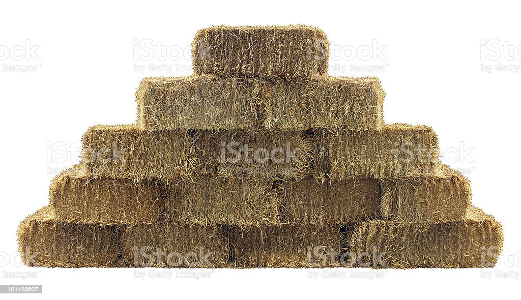 Bale of Hay Wall stock photo
