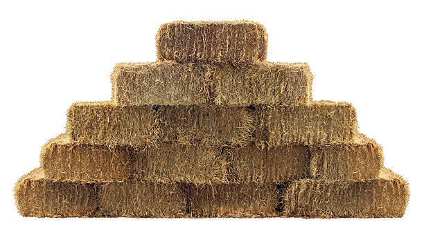 Bale of Hay Wall stock photo