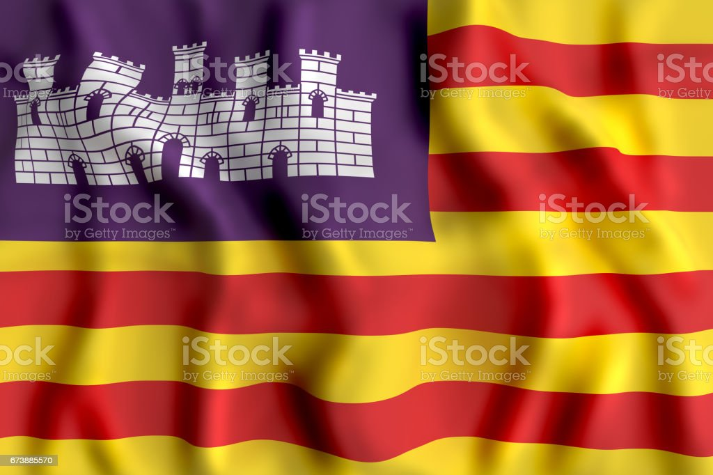 Baleares flag waving - foto stock