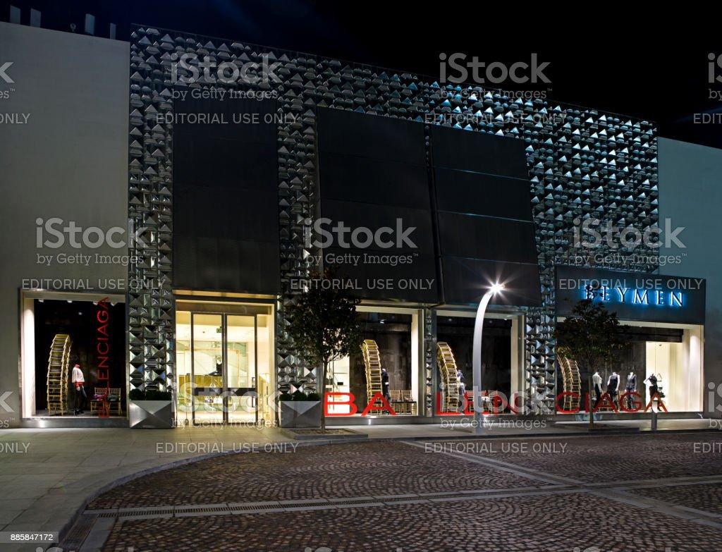 Balenciaga store стоковое фото
