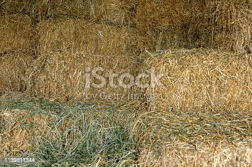 Bales Of Hay In Stable
