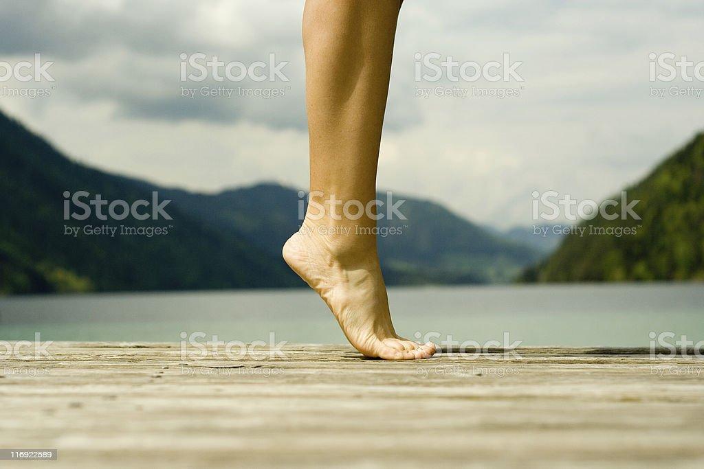 Balett on Pier stock photo