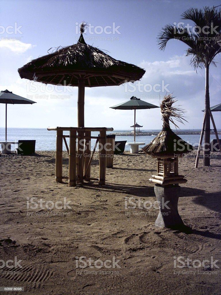 Bali Beach at Daybreak stock photo
