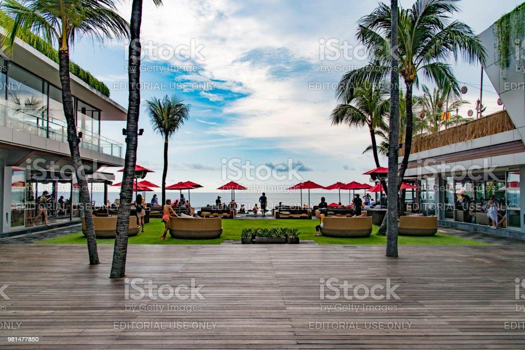 Bali beach club stock photo