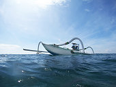 Traditional fishing bali boat