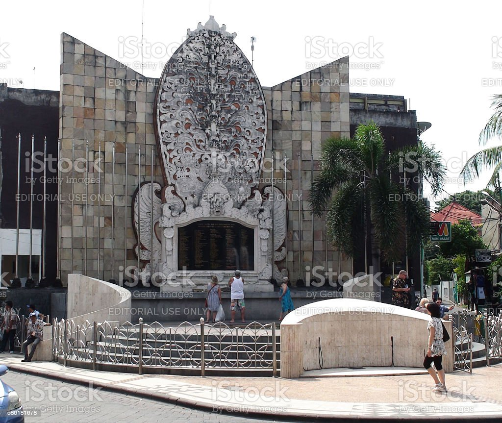 Bali Bombing Memorial Building Exterior And People.Indonesia.Asia stock photo