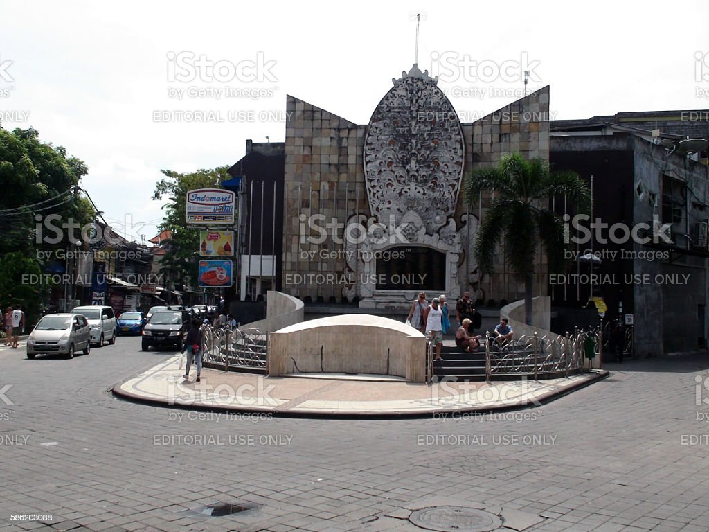 Bali Bombing Memorial Building Exterior Including People.Indonesia.Asia stock photo