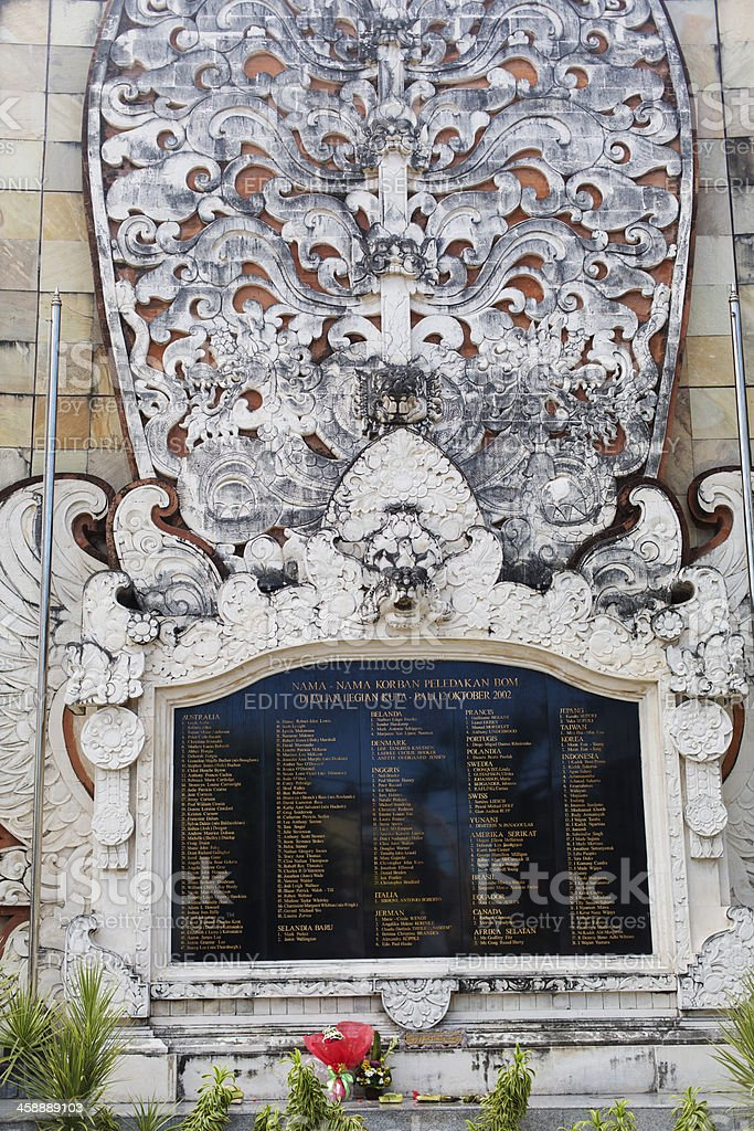 Bali Bombing Memorial royalty-free stock photo